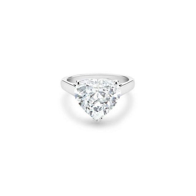 De Beers Classic Heart-Shaped Diamond Ring