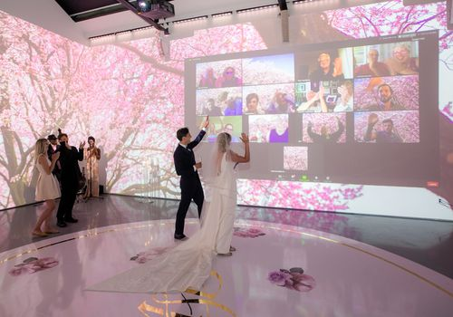 virtual wedding reception