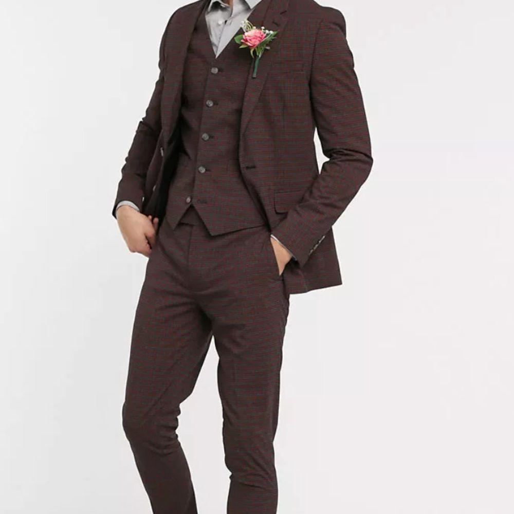 mini checkered suit