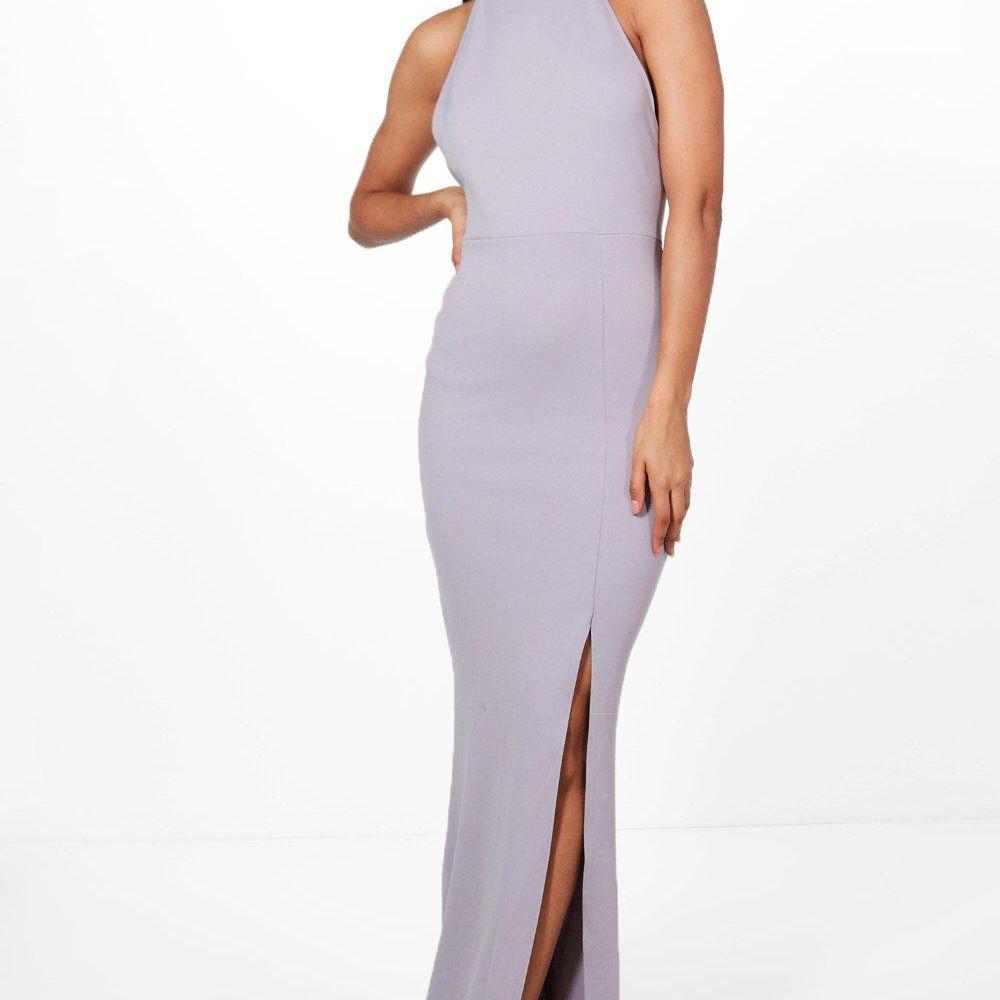 Boohoo High Neck Split Leg Maxi Bridesmaid Dress $11.20, was $28
