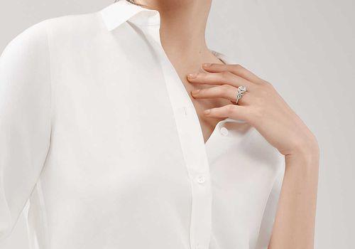 woman wearing ring