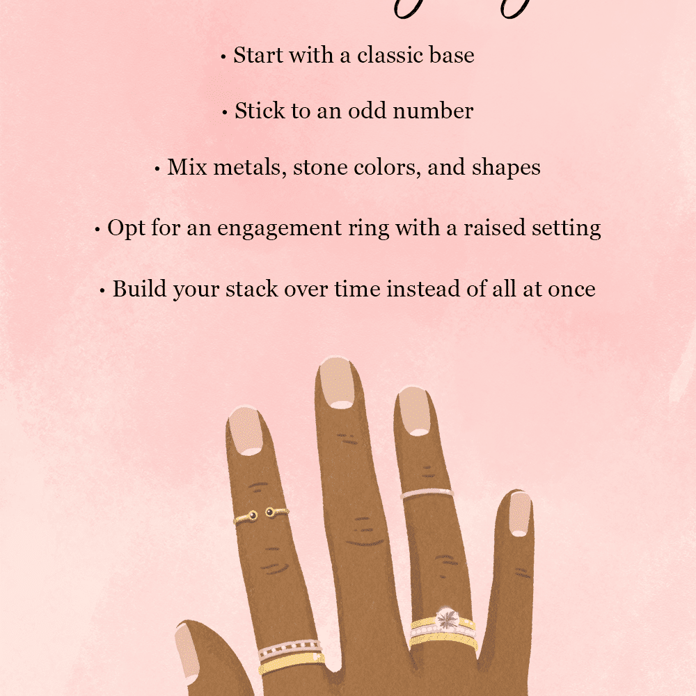 Tips for Stacking Your Wedding Ring