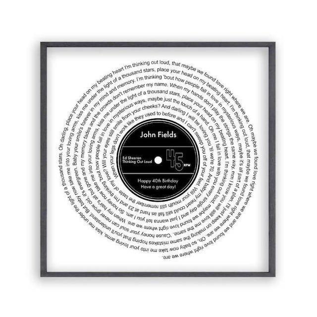 Custom Song Lyric Print