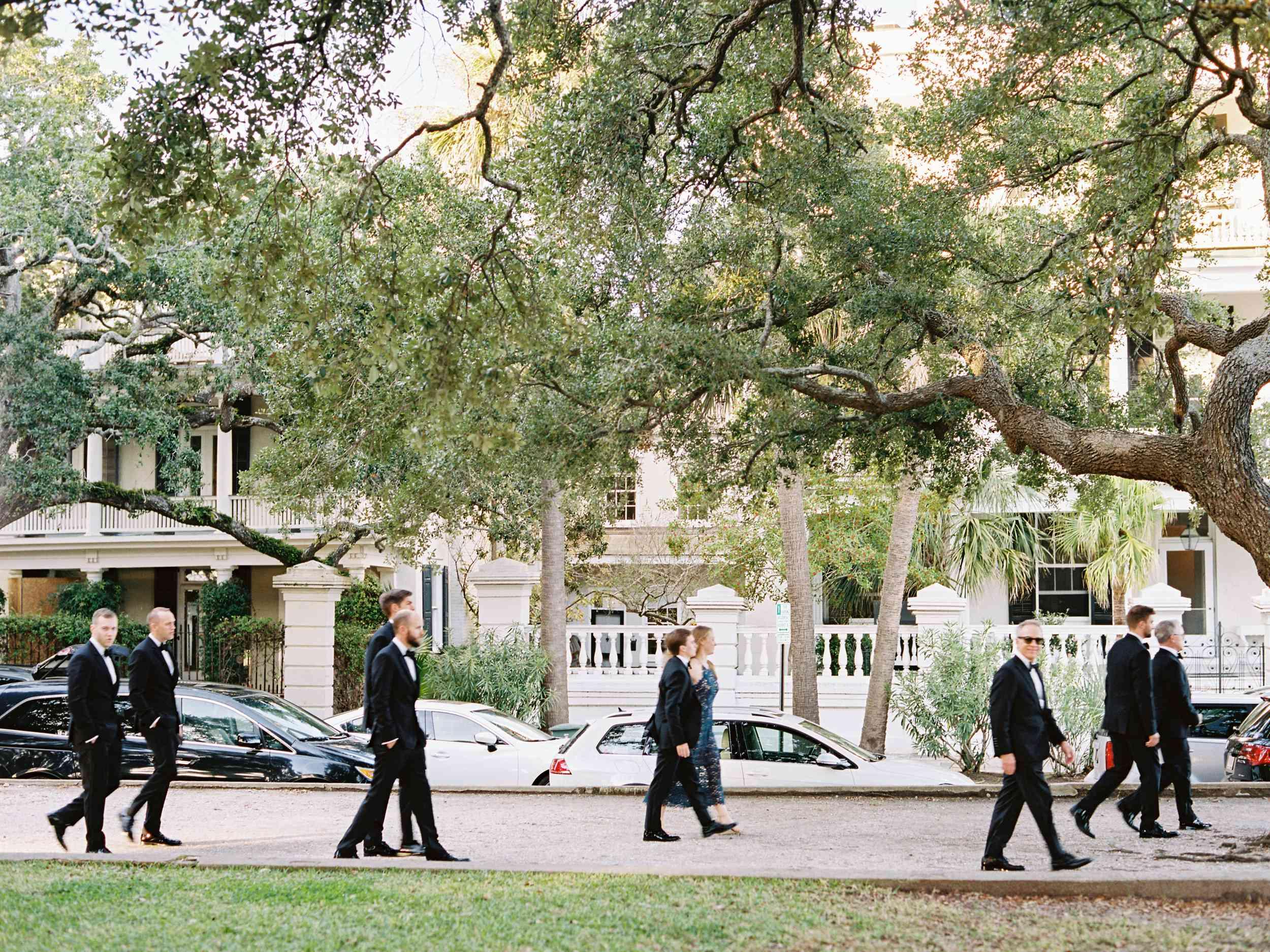 groomsmen in Charleston