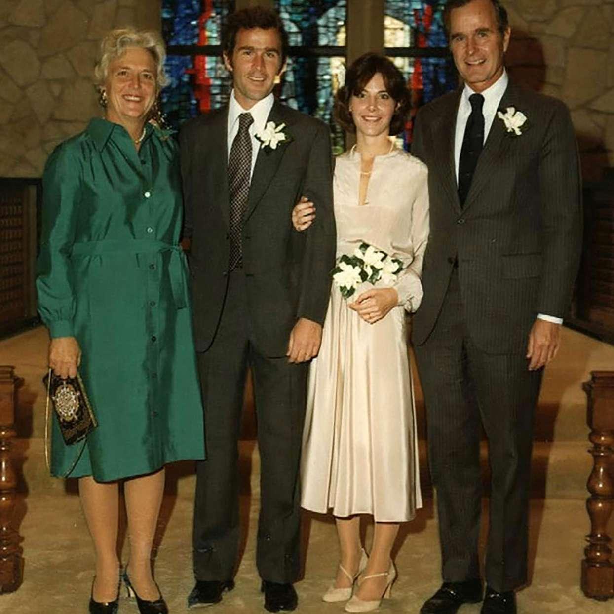 George W. Bush and Laura Wedding