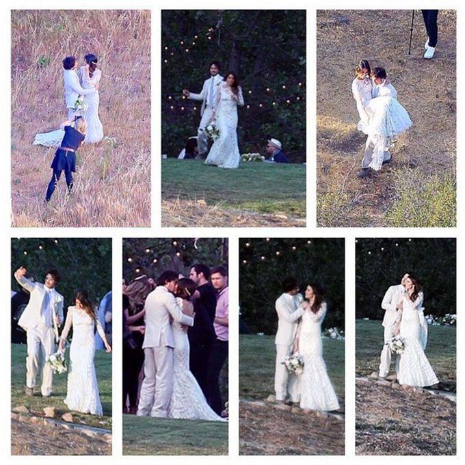 Nikki Reed marries Ian Somerhalder in Claire Pettibone, 2015