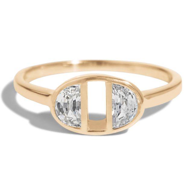 Bario Neal Half-Moon Dyad Ring