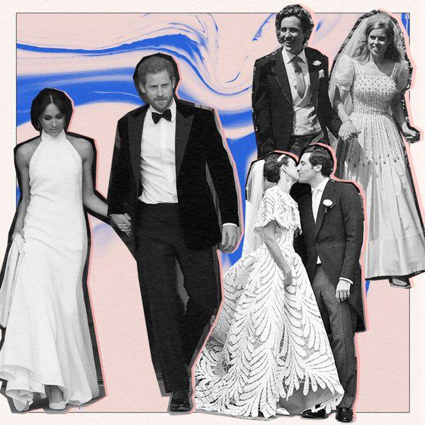 royal couples at their wedding