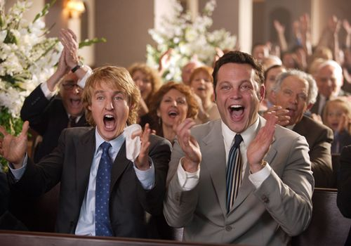 "A still of Owen Wilson and Vince Vaughn in the film ""Wedding Crashers"""