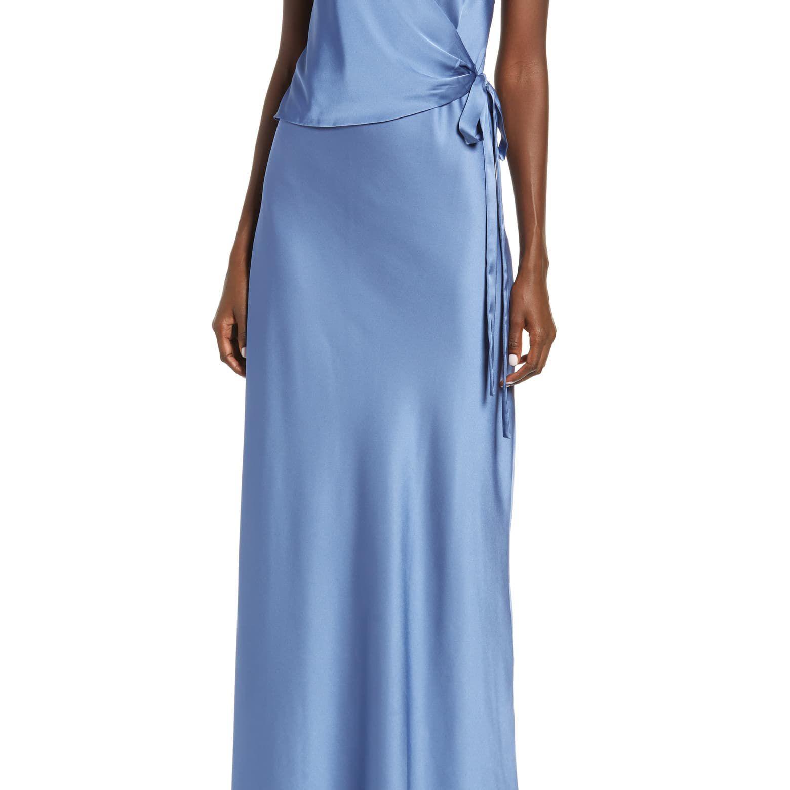 Wayf The Bea Faux Wrap V-Neck Dress $138