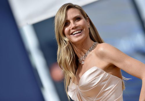 Heidi Klum attends the 70th Emmy Awards at Microsoft Theater.