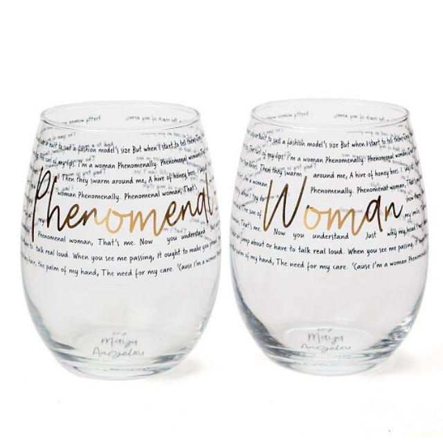 Phenomenal Woman Wine Glasses