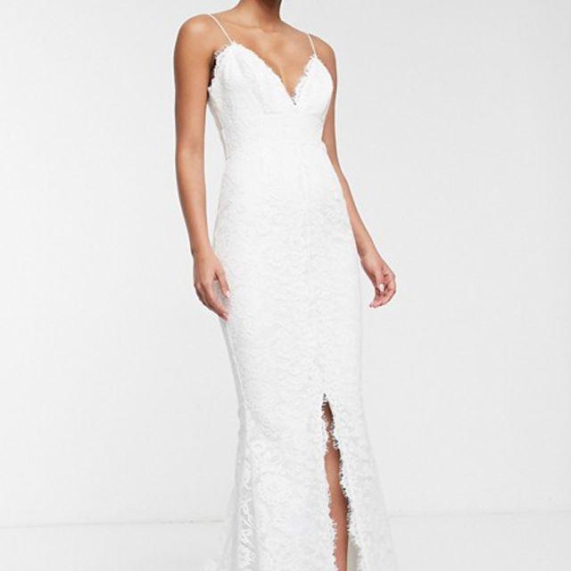 ASOS EDITION Lace Cami Wedding Dress $190