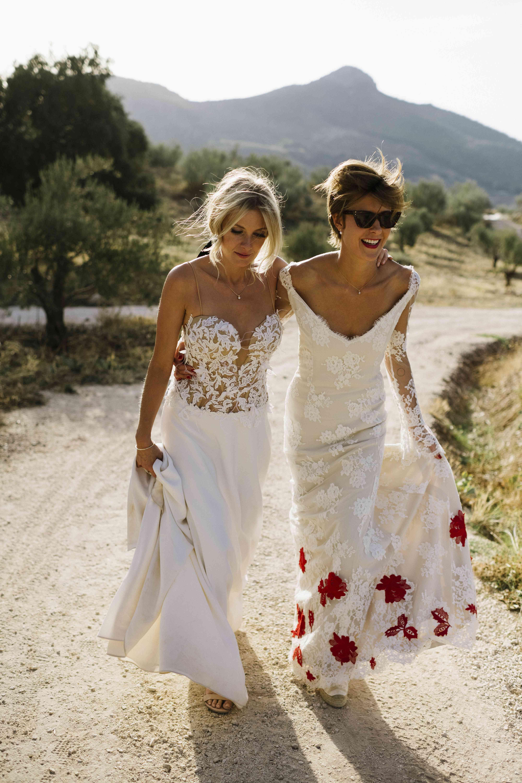 bride wearing sunglasses