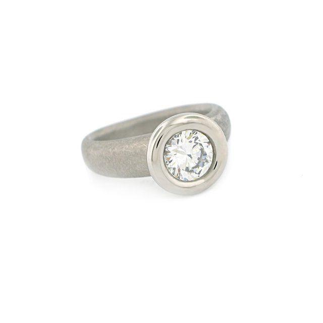 Catherine Iskiw Designs Palladium Engagement Ring