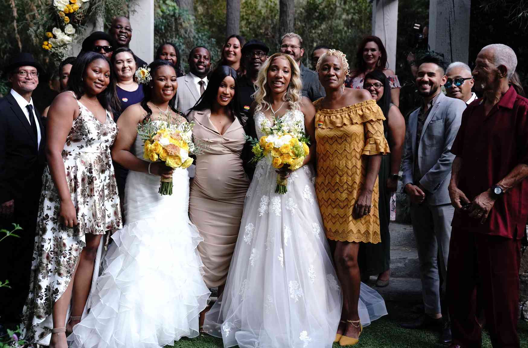 Cardi B and wedding party