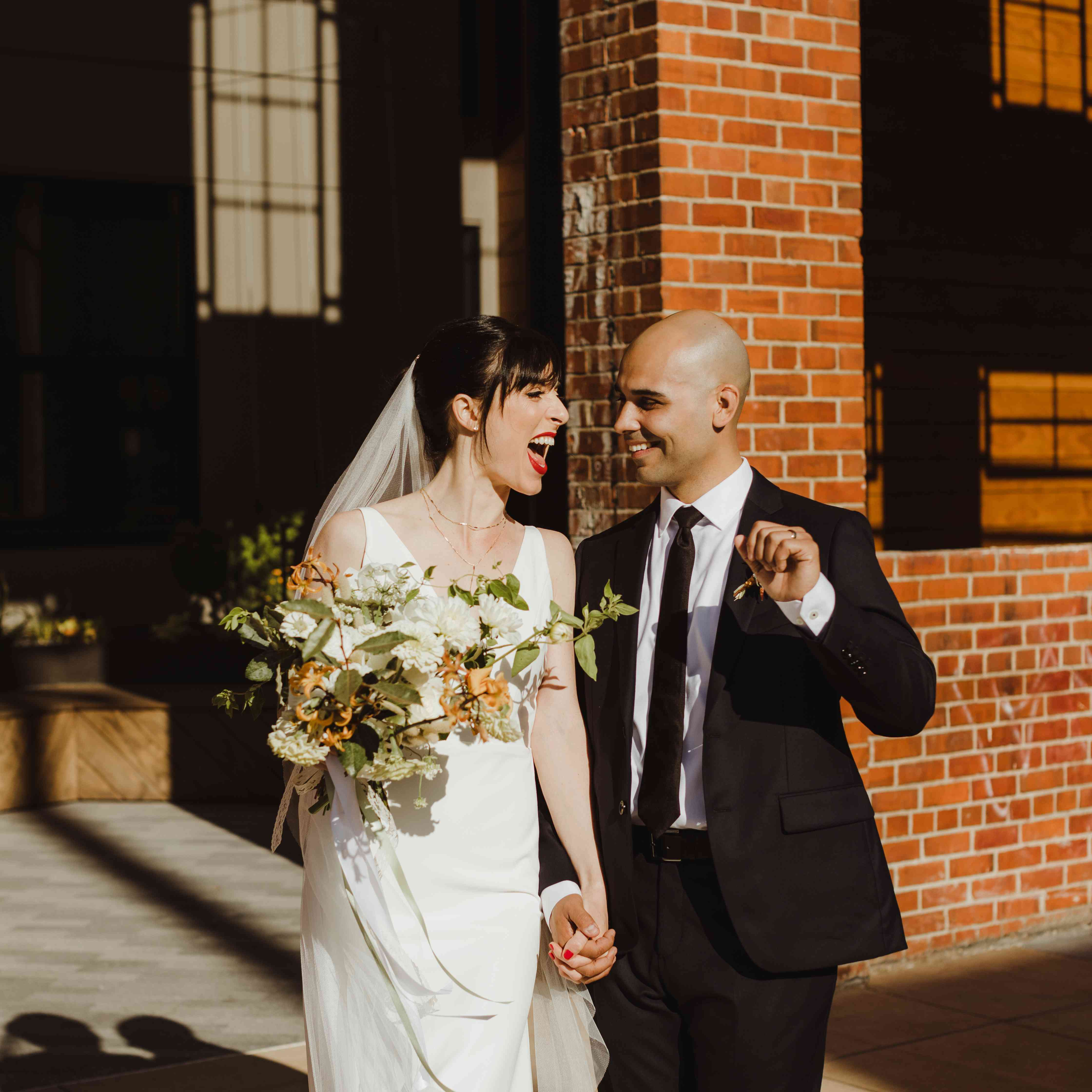 <p>just married happy bride and groom</p><br><br>
