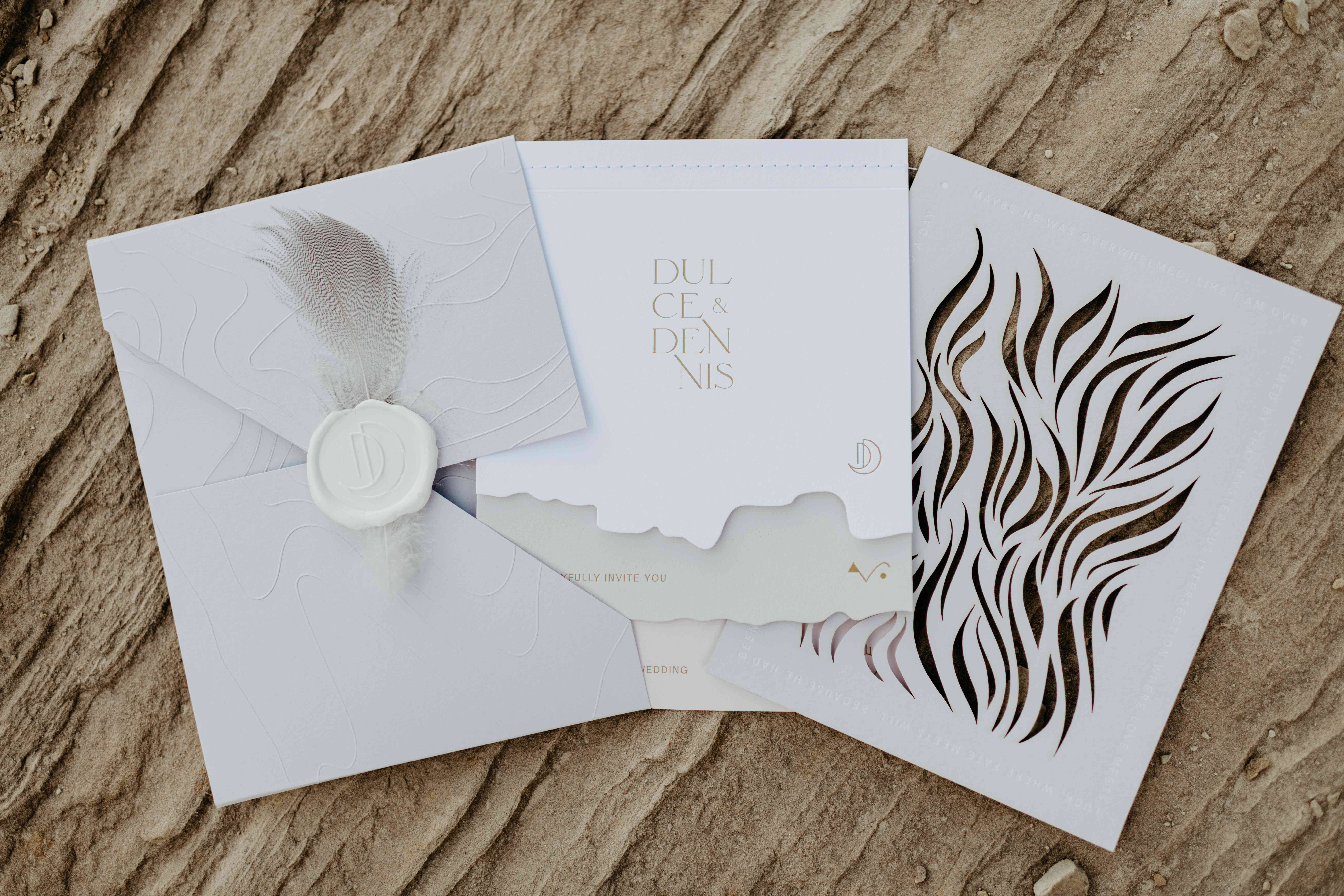 Invitation with wax seal