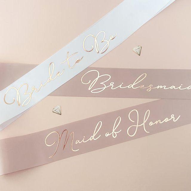 Bridesmaid Sash Set