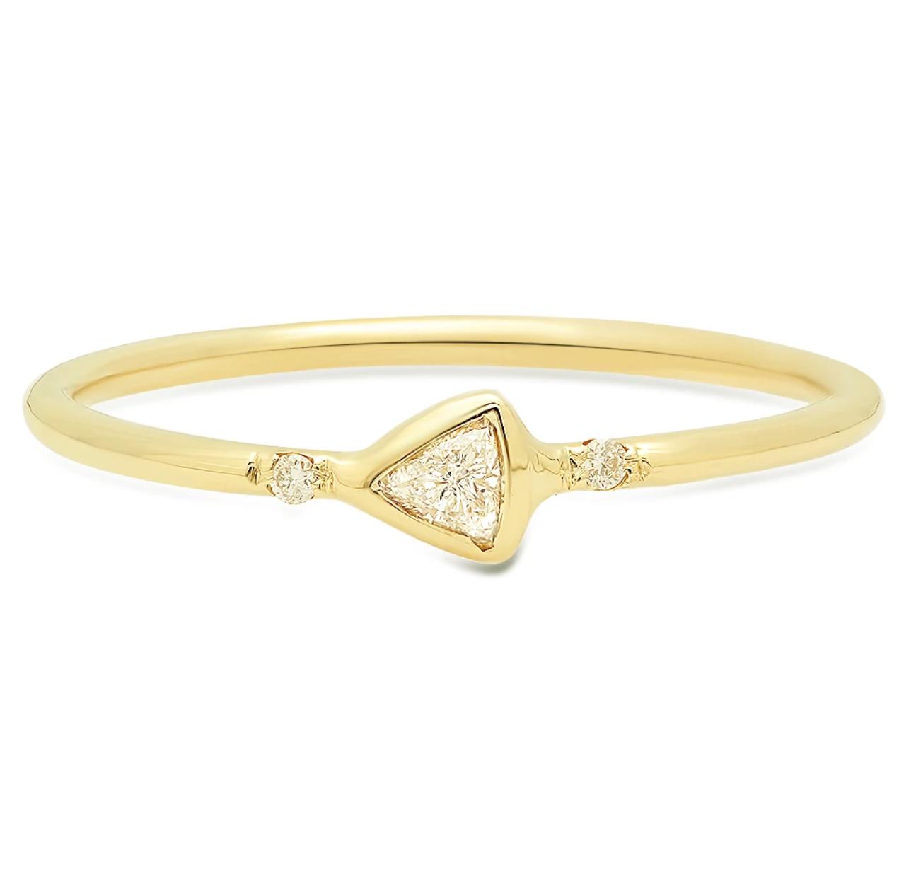 Rosedale Jewelry Petite Trillion Diamond Ring