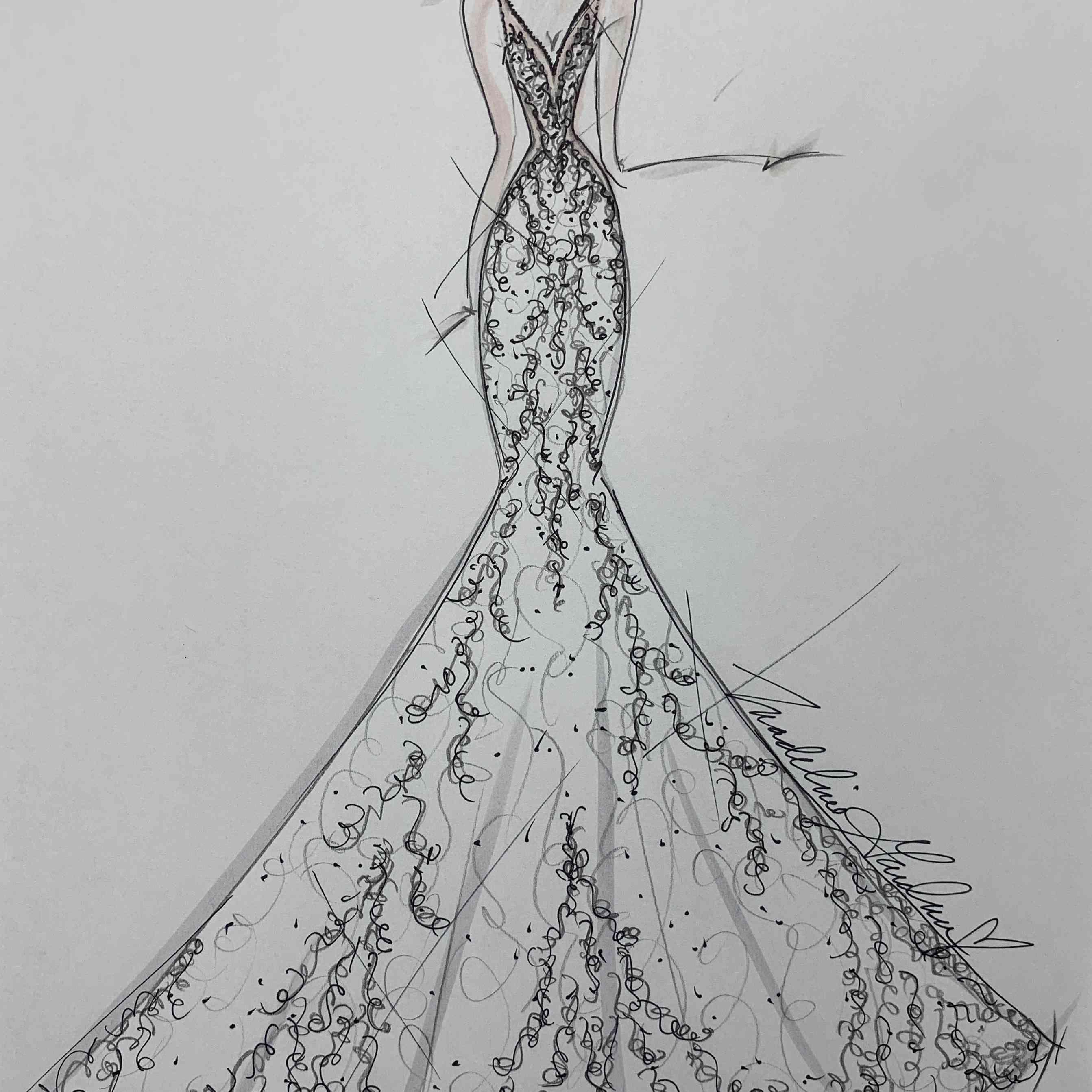 Morilee by Madeline Gardner Bridal Fashion Week Fall 2020 Sketch