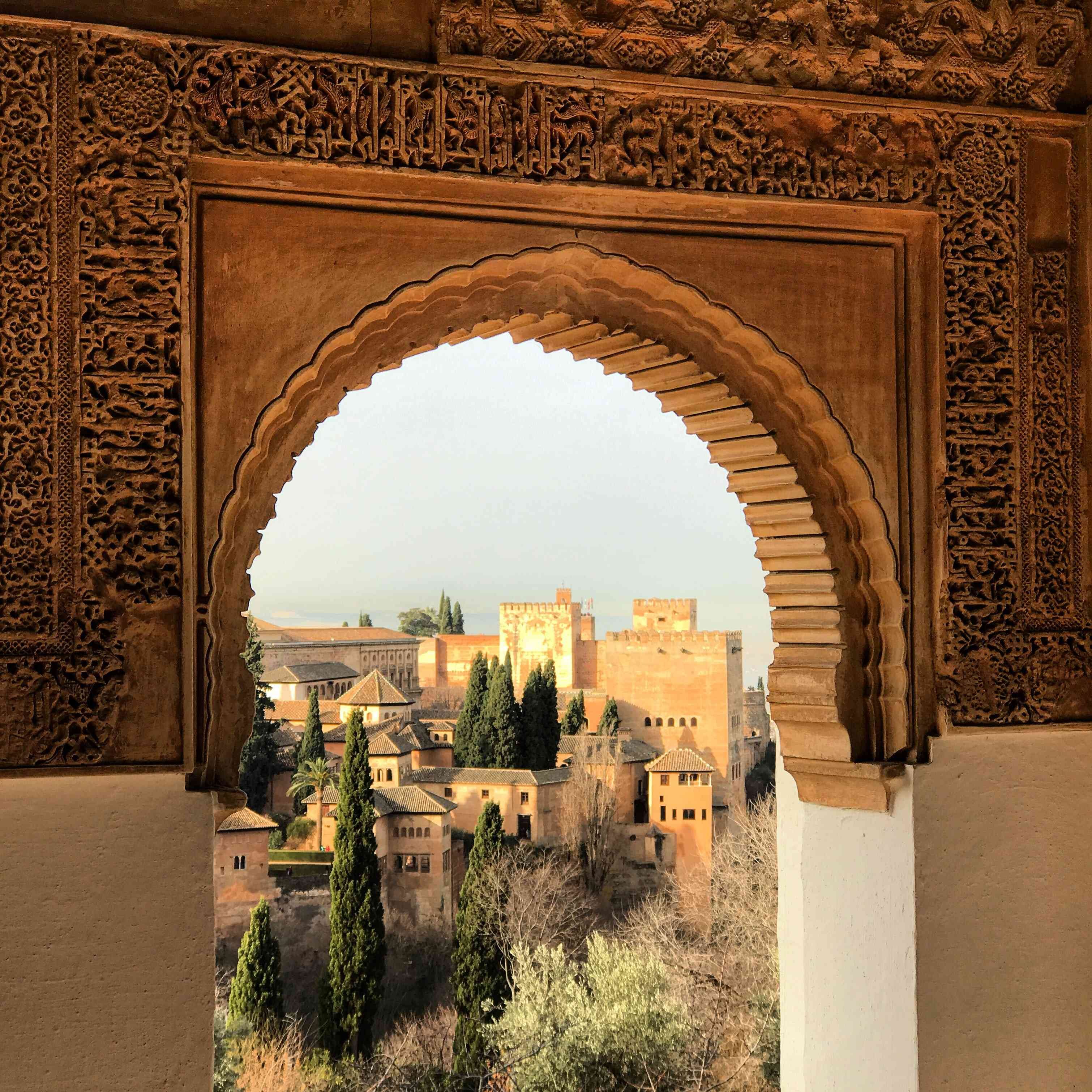 View of the Alhambra in Granada Spain