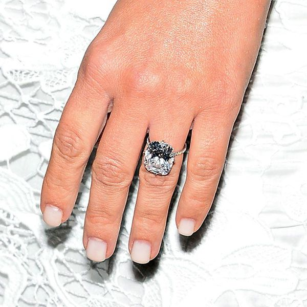 Kim Kardashian's hand with her first engagement ring