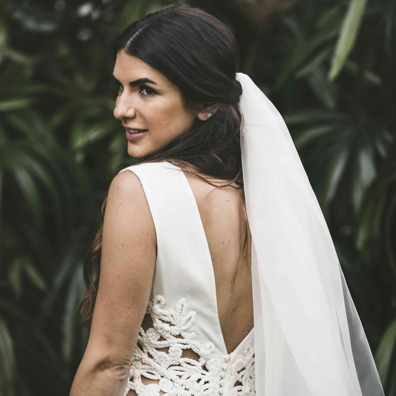 bride back detail dress