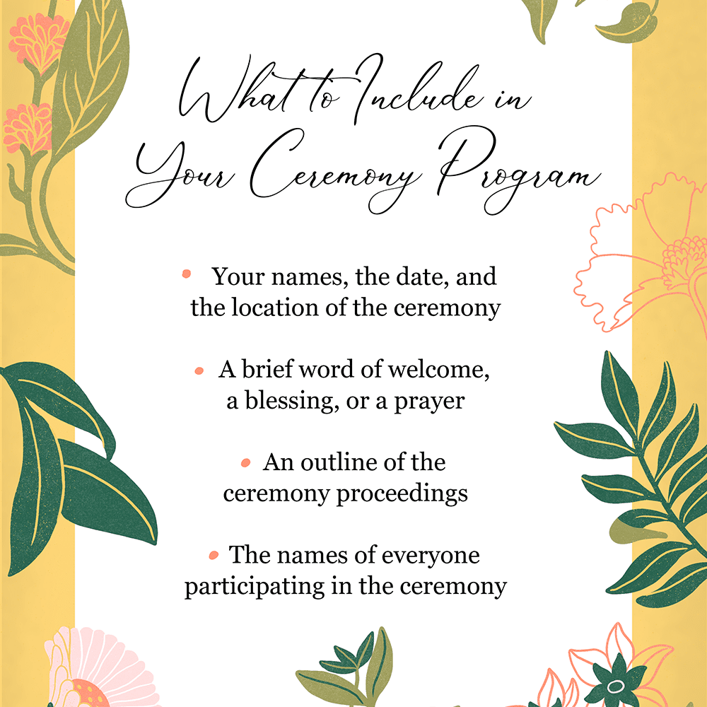 What to Include in Your Ceremony Program