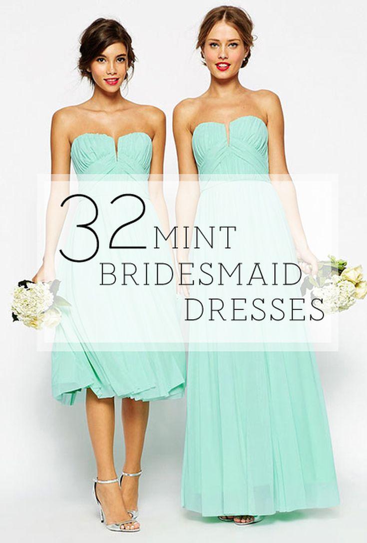 32 Mint Bridesmaid Dresses