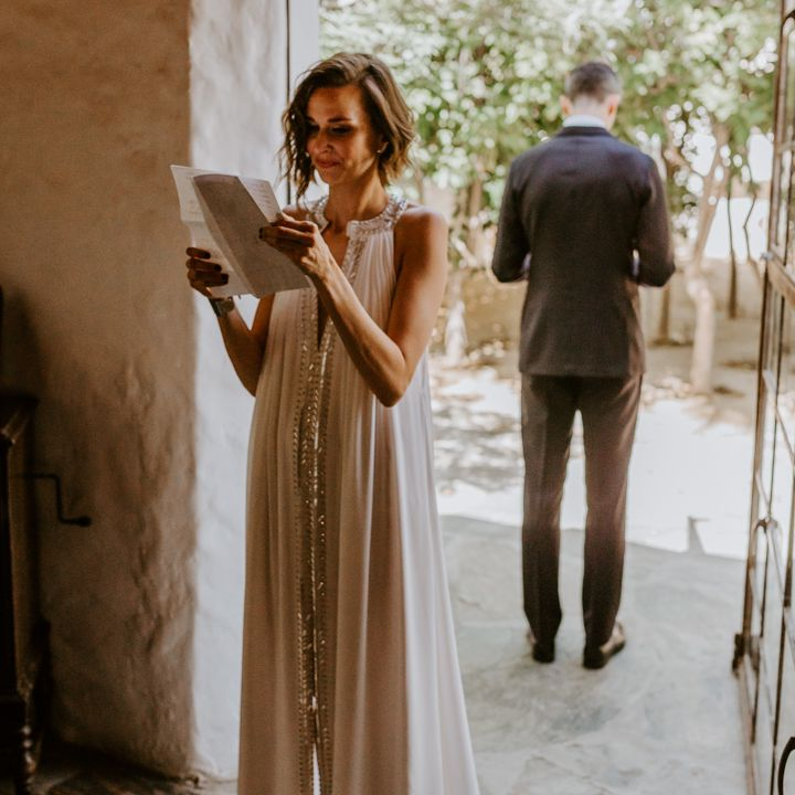 <p>reading letters before ceremony</p><br><br>