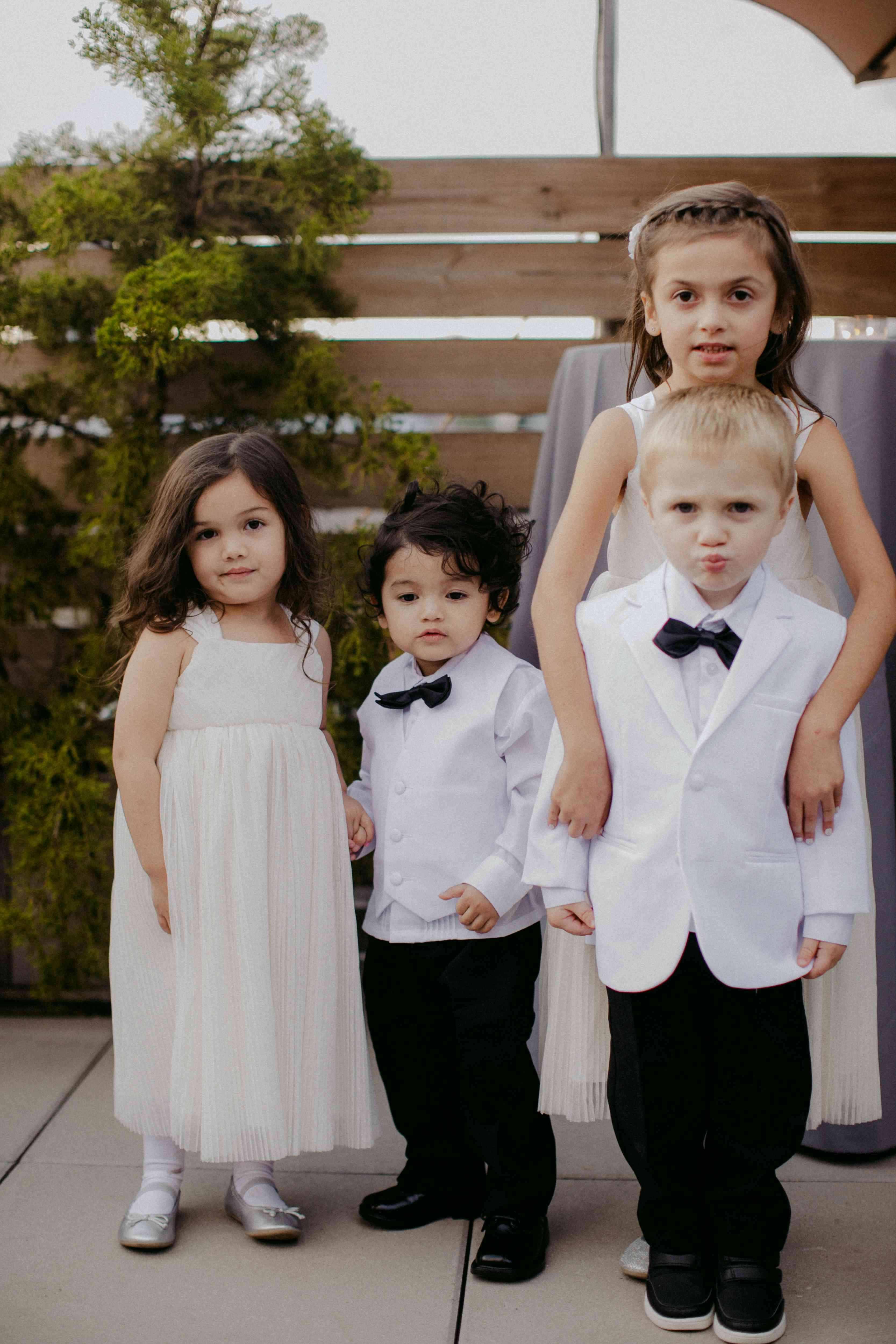 <p>flower girls and ring bearers</p><br><br>