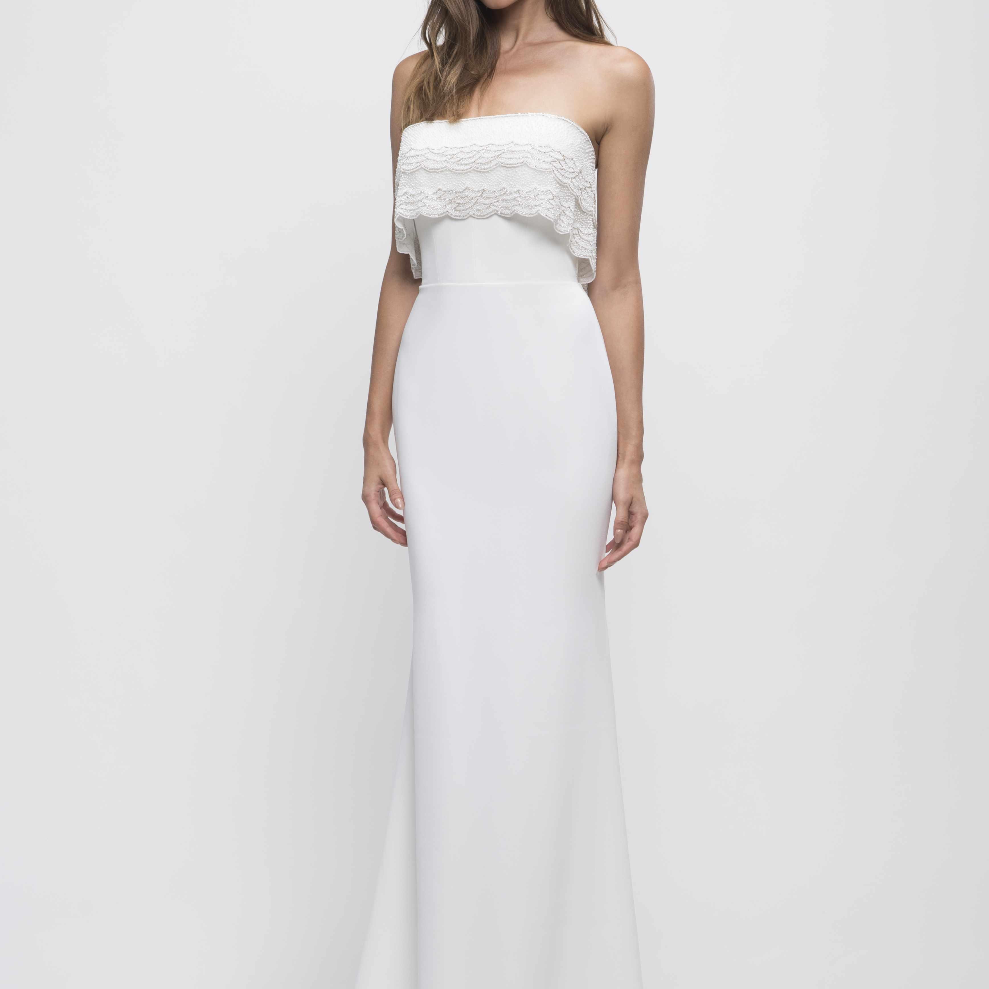 Saryne strapless wedding dress