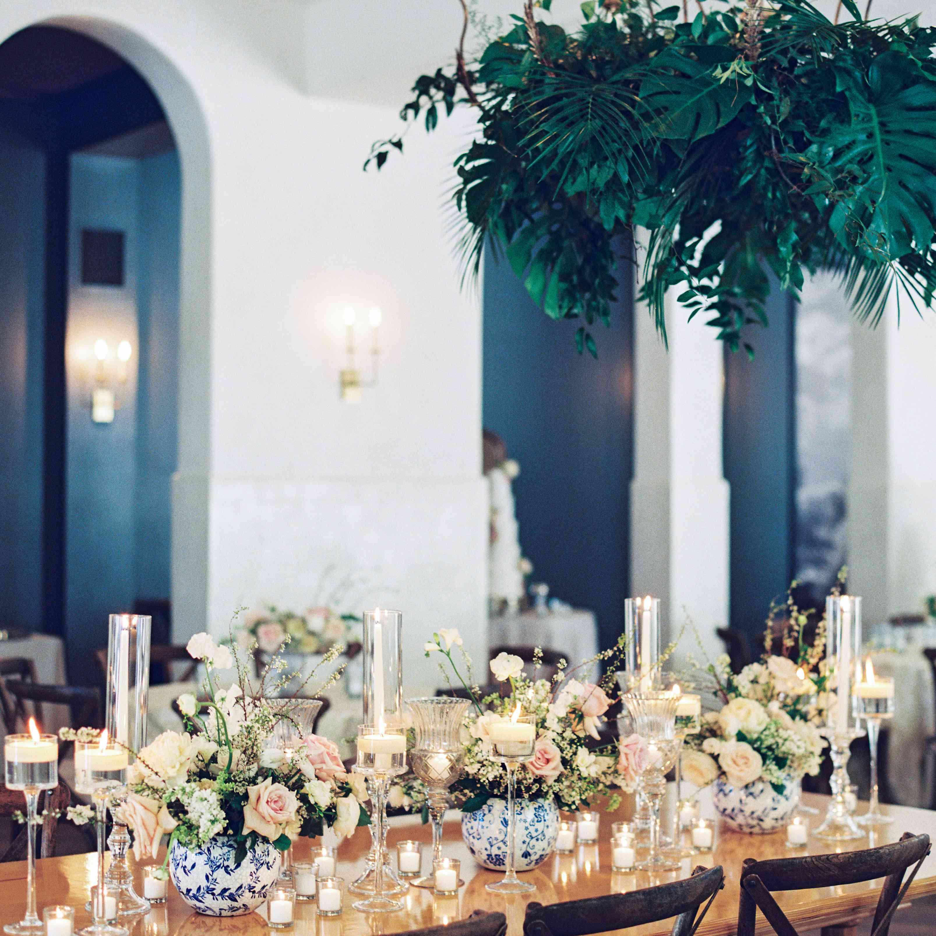 <p>wood wedding reception table</p><br><br>