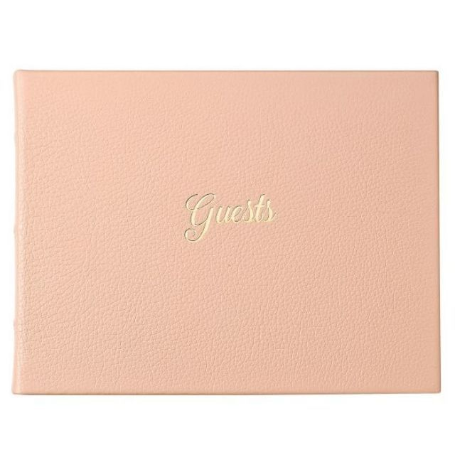 Pottery Barn Italian Leather Guestbook