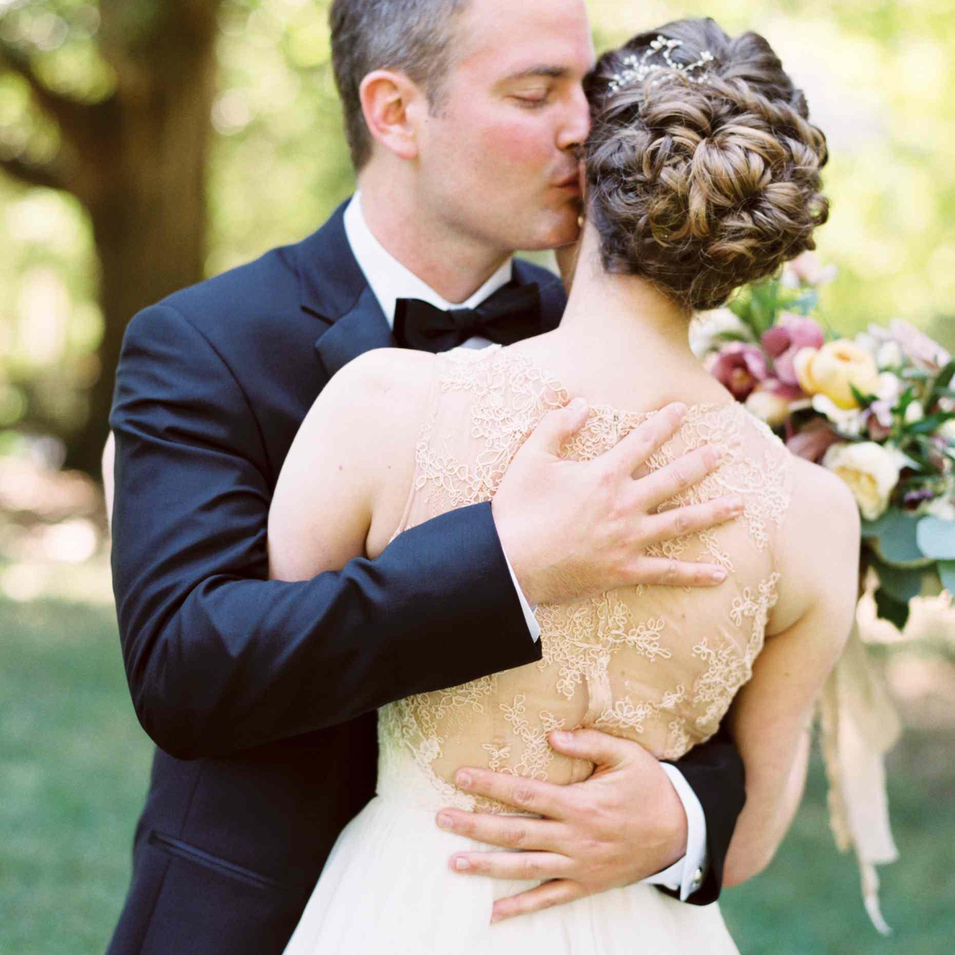 Gallery Prettiest Real Bride Wedding Hairstyles