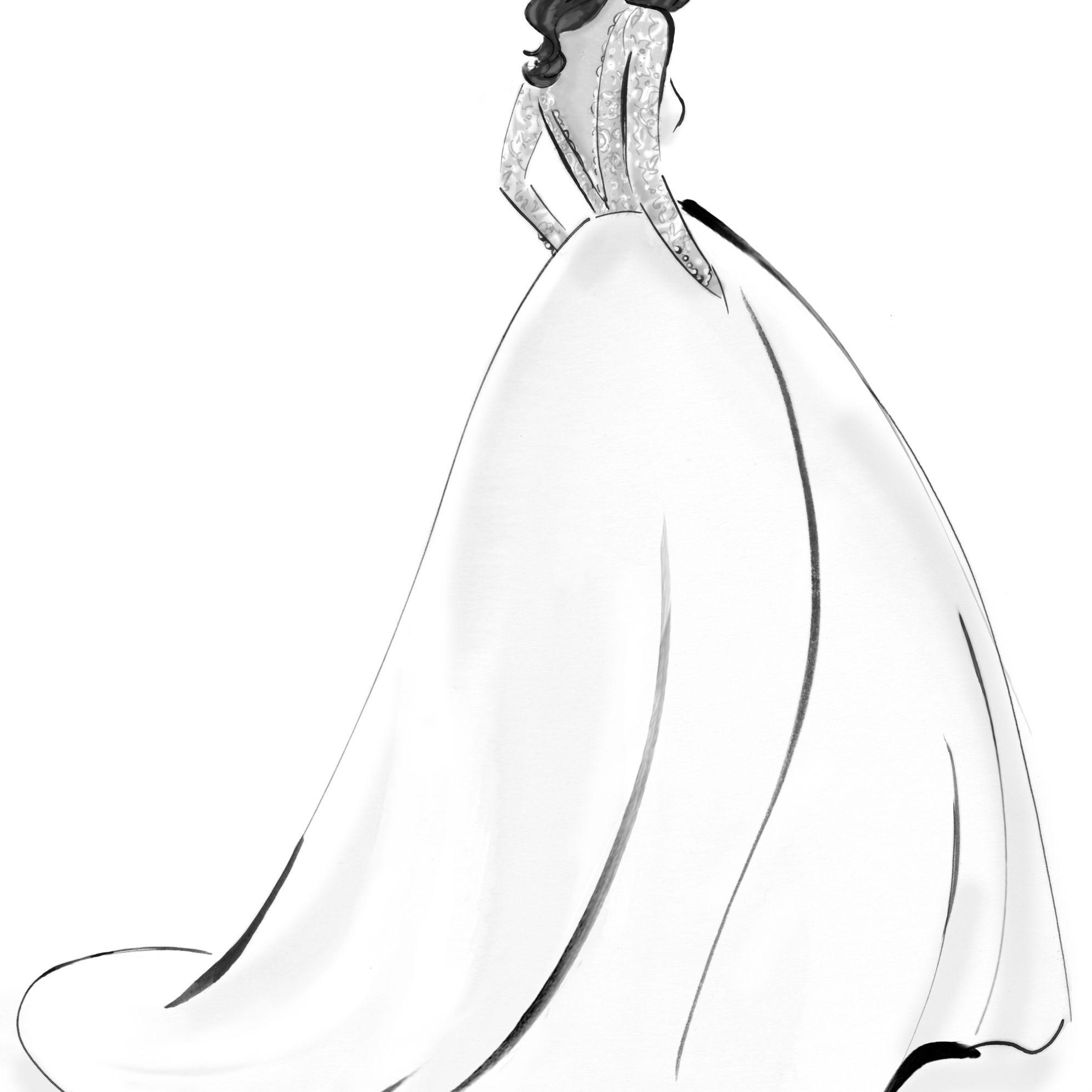 Caroline Castigliano Bridal Fashion Week Fall 2020 Sketch