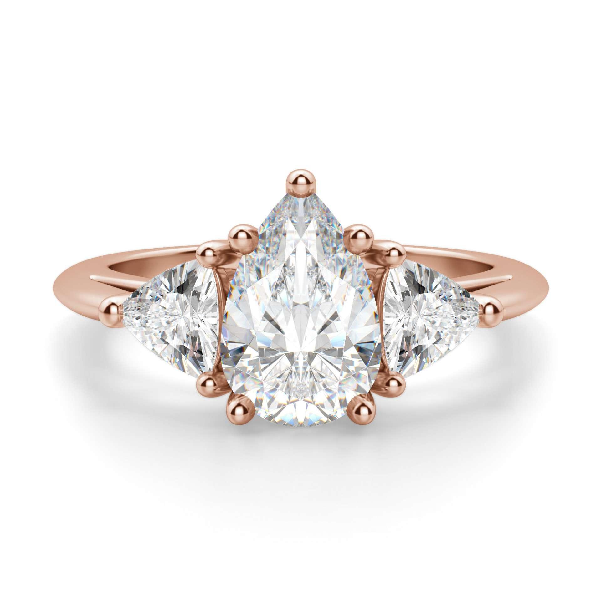 Diamond Nexus Timeless Pear Cut Engagement Ring