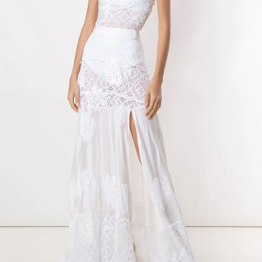 Lace Strapless Top and Maxi Skirt