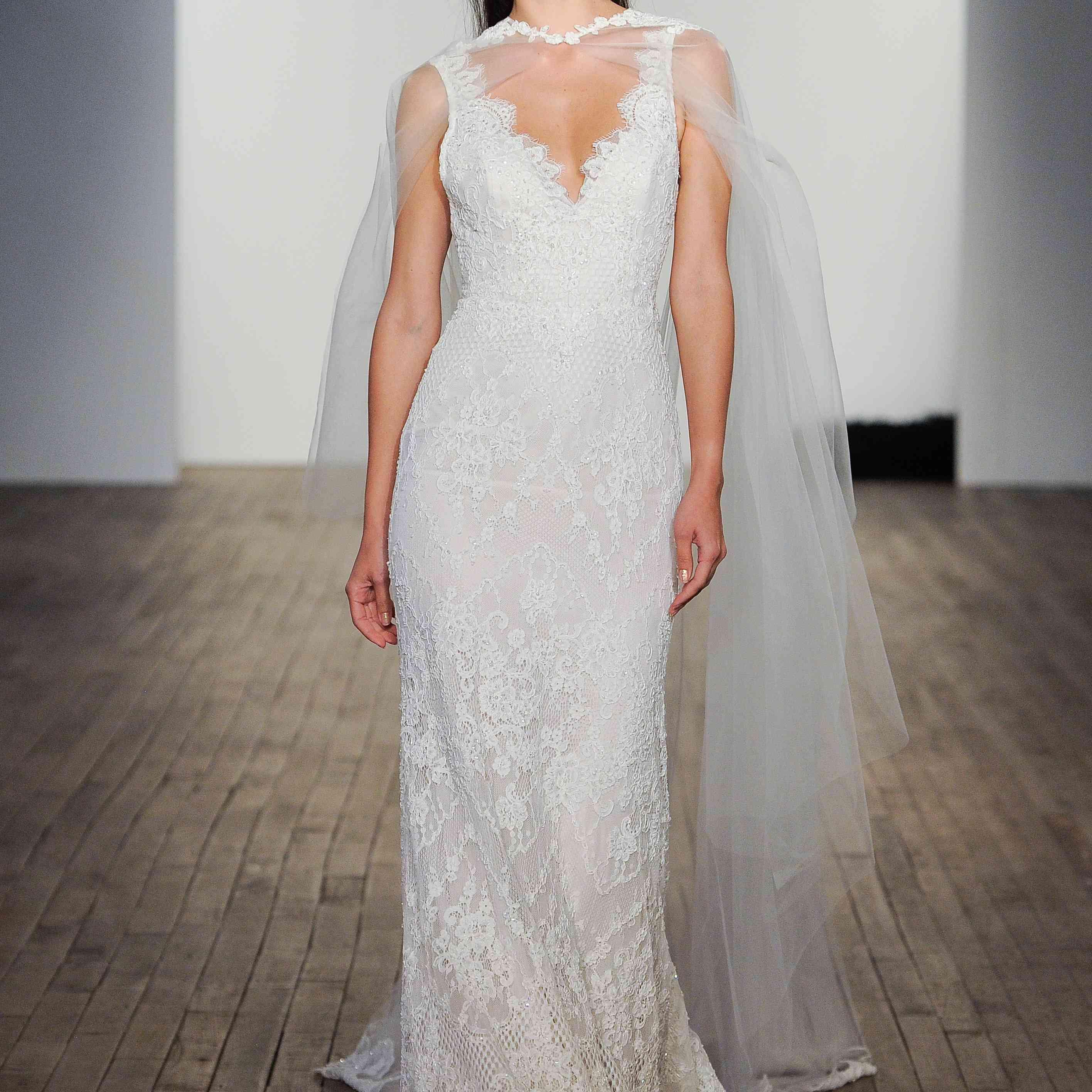 Emmeline sleeveless trumpet wedding dress