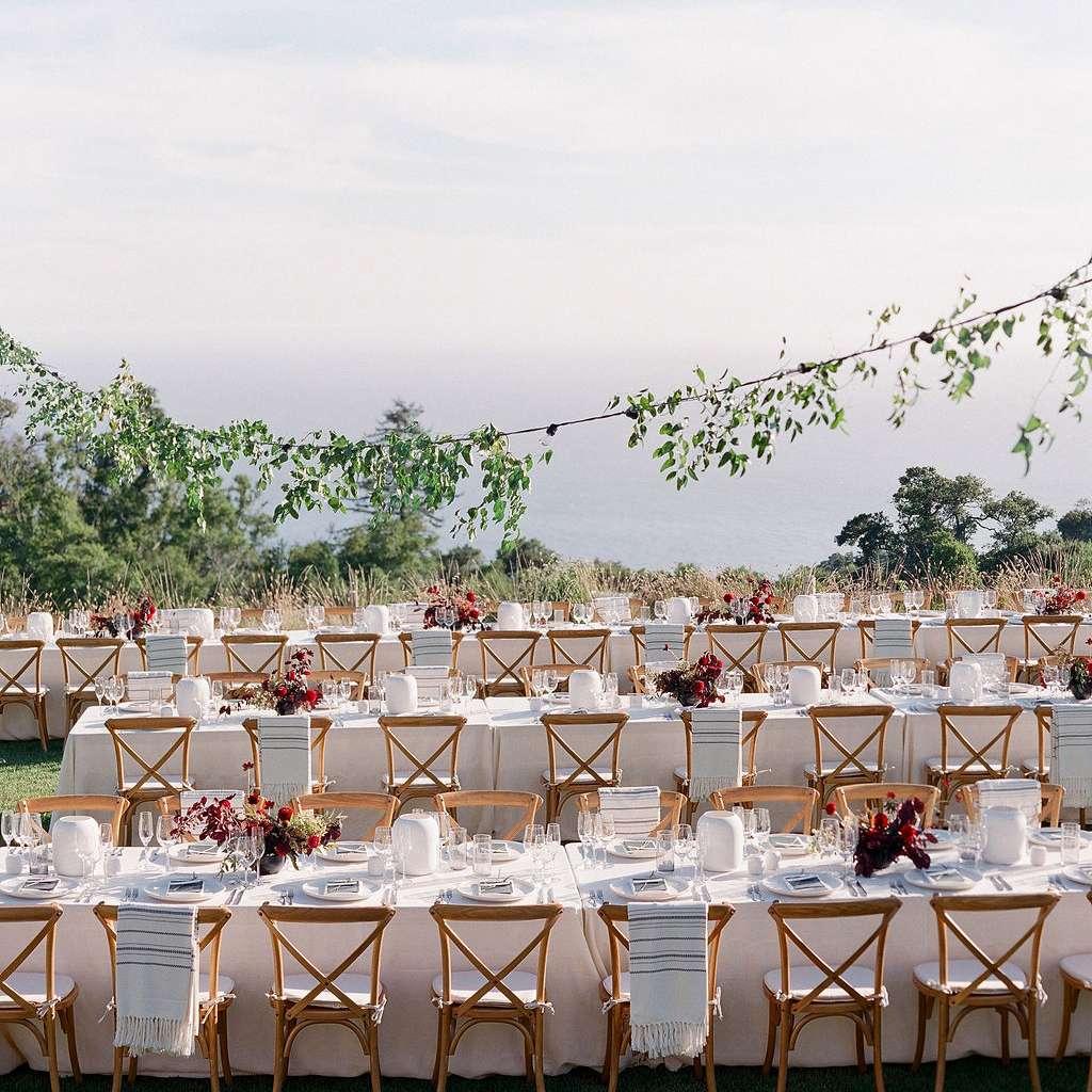 outdoor buffet tables