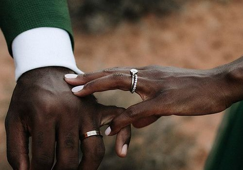 couple with rings