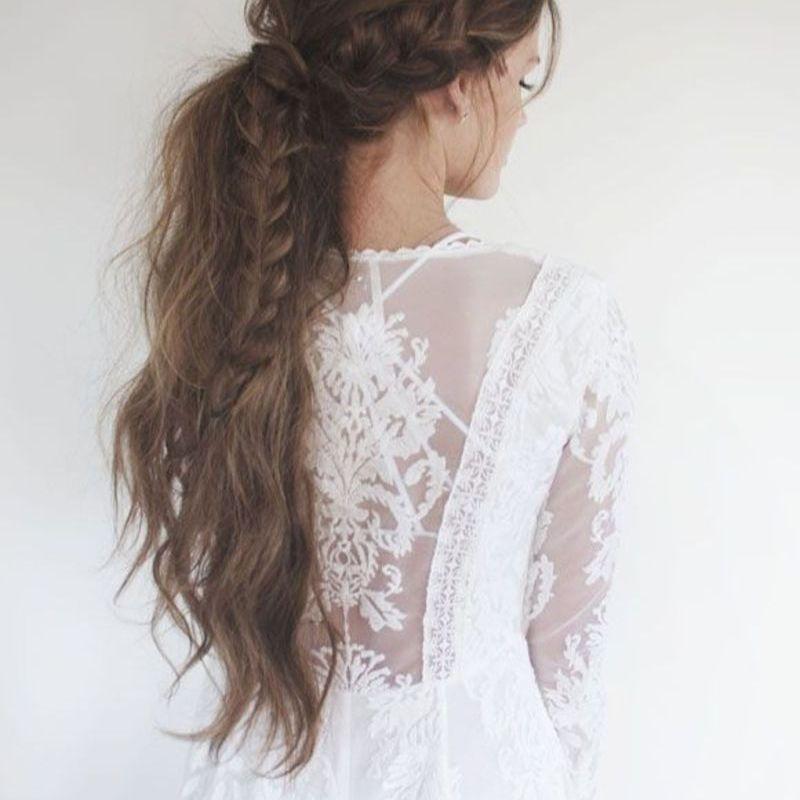 Toussled ponytail