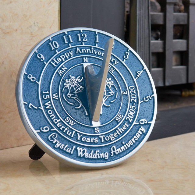 TheMetalFoundry 15th Wedding Anniversary Sundial