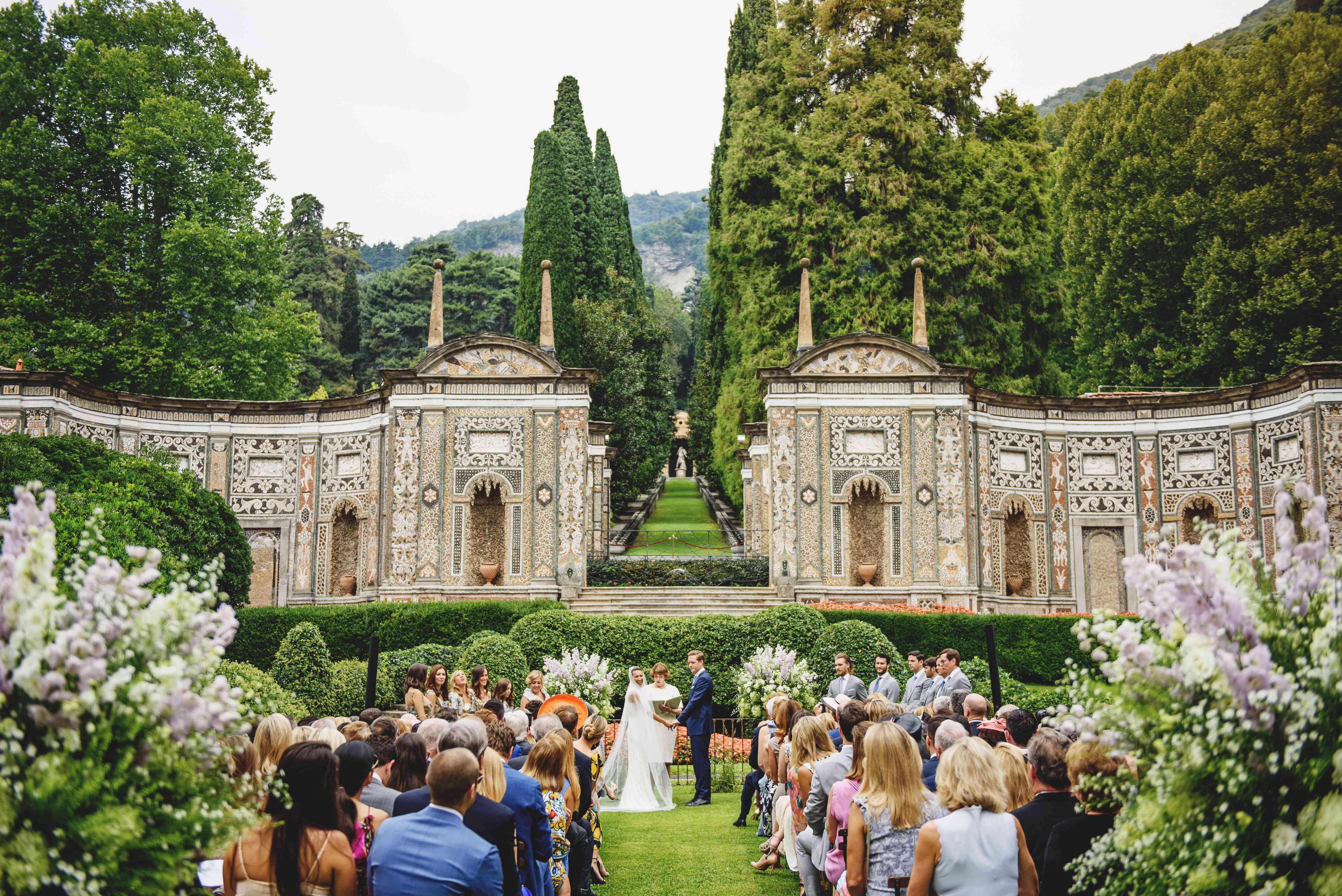 bride and groom ceremony outdoor ceremony