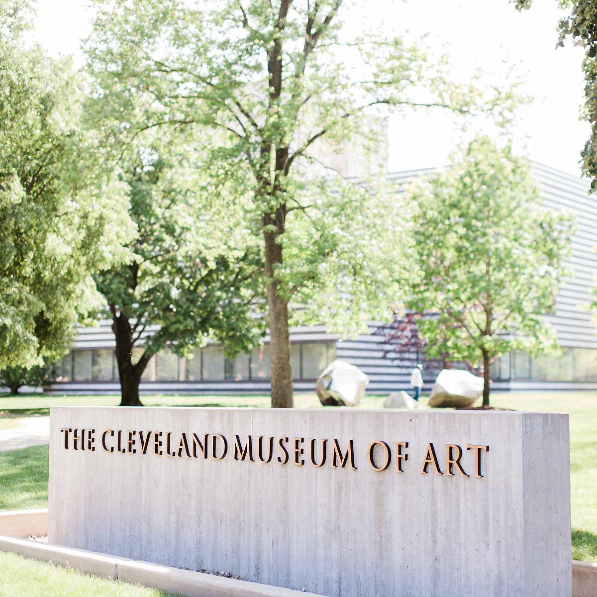 Cleveland museum of art sign