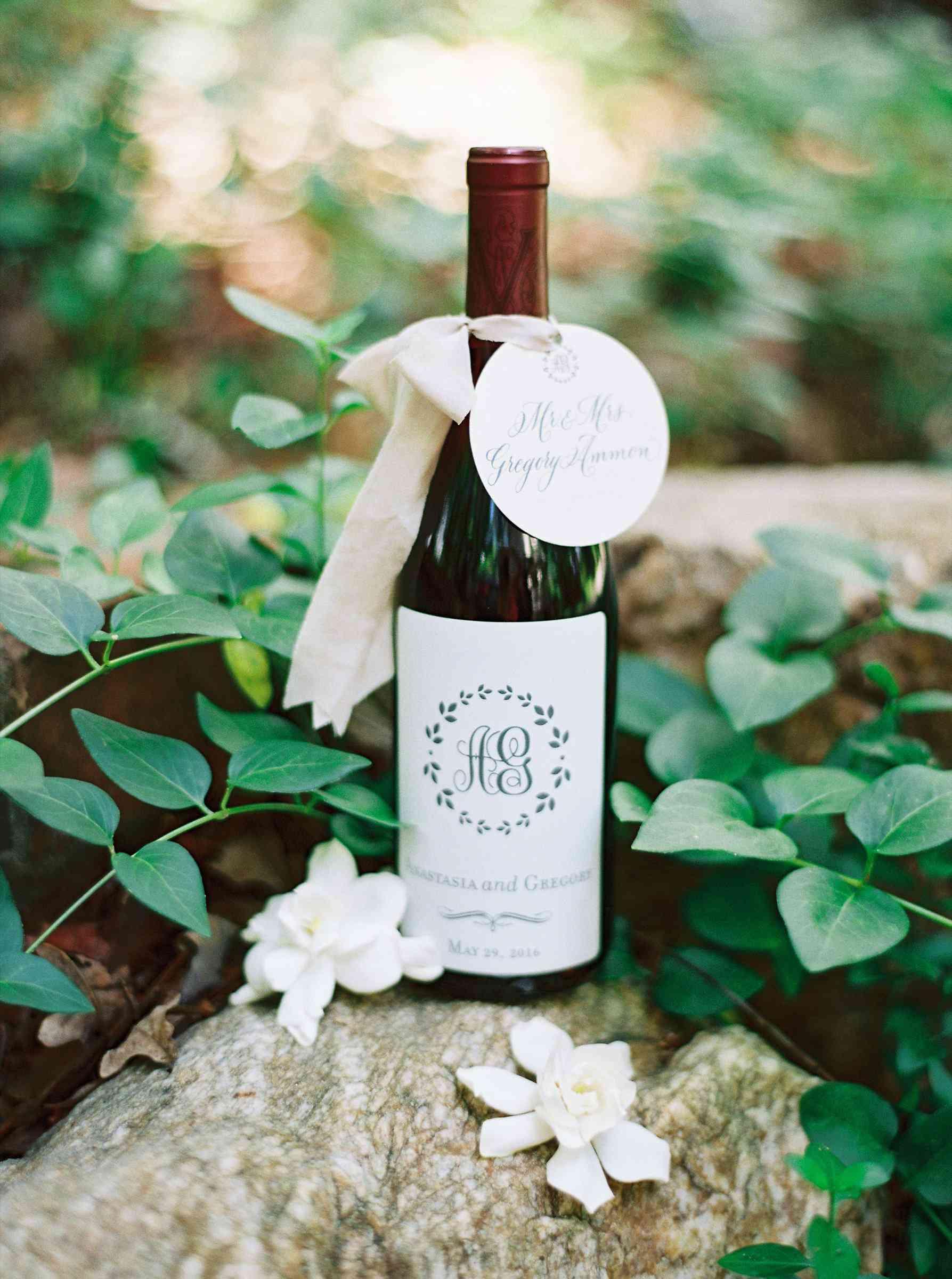 Customized bottle of wine