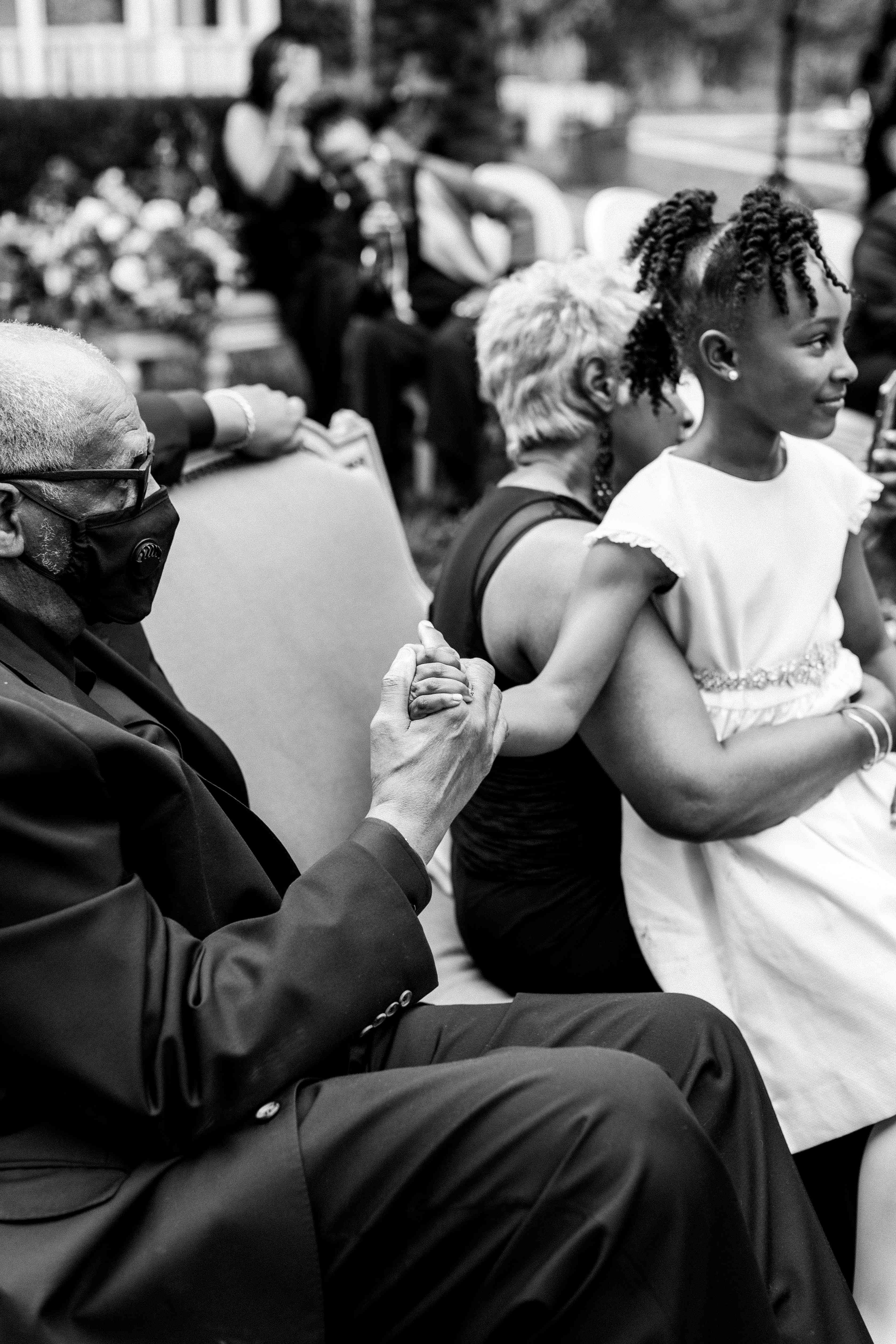 flower girl with grandparents