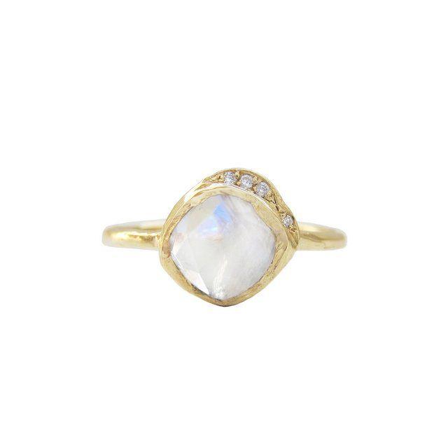 Misa Jewelry Mini Cove Moonstone Ring