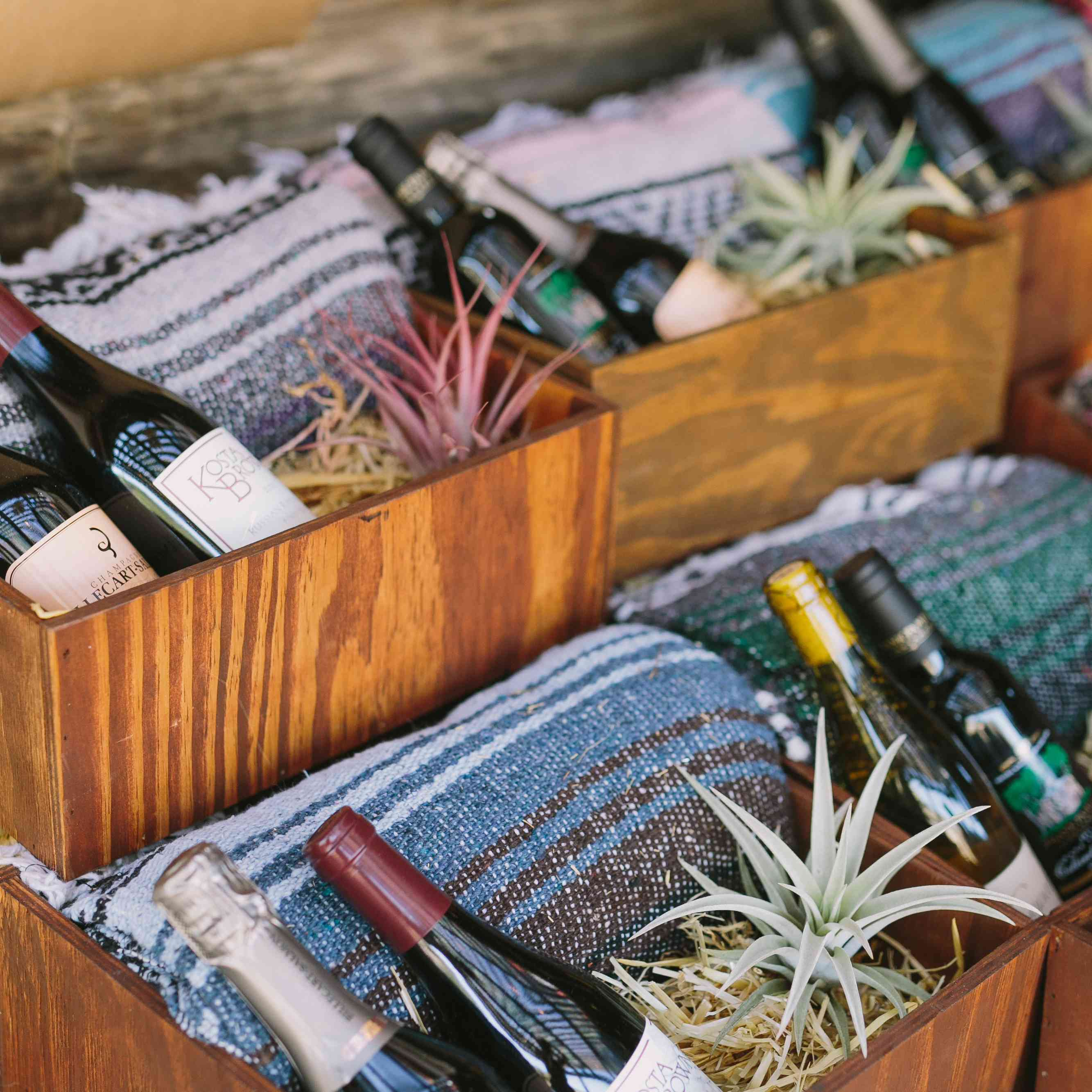 Wine and Blanket Favors